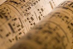 Sheet music Royalty Free Stock Images
