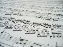 Sheet Of Music. Close-up of a sheet of classic music Royalty Free Stock Photography