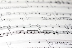 Sheet of music Stock Photo