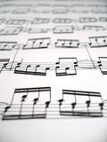 Sheet Music. A sheet of difficult music stock photos