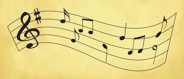 Sheet music Stock Photography