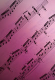 Sheet Music. A page of sheet music with a purple gradient Royalty Free Stock Photography