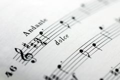 Sheet of music. Closeup of a sheet of music Royalty Free Stock Image