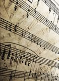 Sheet music. Close-up of old  sheet music abstract Royalty Free Stock Photos