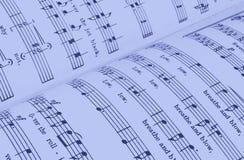 Sheet music. Close-up of sheet music stock photo