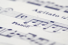 Sheet of music. Close up of a sheet of music Royalty Free Stock Images