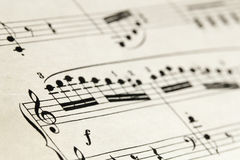 Sheet music abstract Stock Photo