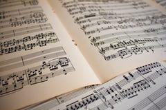 Sheet Music Background Royalty Free Stock Photos
