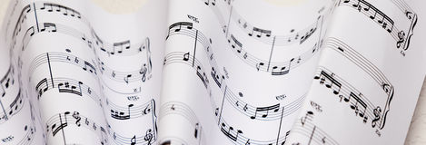 Sheet music Royalty Free Stock Photos