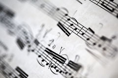 Sheet music background Stock Photography