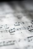 Sheet music in black and white Royalty Free Stock Photos