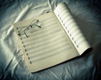 Sheet Music Stock Photo