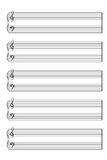 Sheet music books vertical. Vector EPS10 Stock Photo