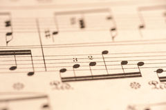 Sheet music Close up. Close up of sheet music. Notes of Chopin's piece Royalty Free Stock Image