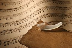 Sheet Music Close-Up. Royalty Free Stock Image