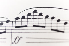 Sheet of music Royalty Free Stock Photography