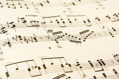 Sheet music detail Royalty Free Stock Image