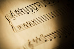 Antique Sheet music Royalty Free Stock Image