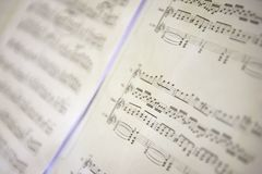 Sheet of music Royalty Free Stock Photo