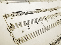 Sheet music for flute and piano Stock Photography