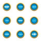 Sheet music icons set, flat style. Sheet music icons set. Flat set of 9 sheet music vector icons for web isolated on white background Stock Images