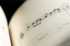 Sheet music note Stock Photos