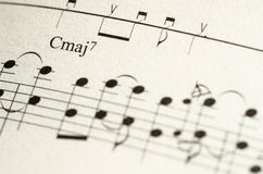 Sheet music note Royalty Free Stock Photo