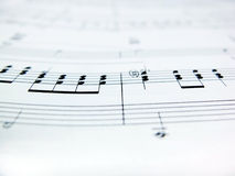 Sheet music notes Royalty Free Stock Photography