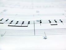 Sheet music notes. Close up Royalty Free Stock Photography