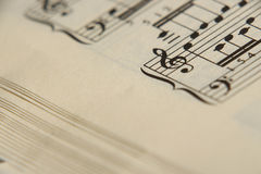 Sheet music 5 Stock Image