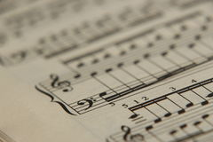 Sheet music 6 Royalty Free Stock Photos