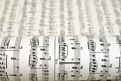 Sheet music. Old sheet music with notes royalty free stock images