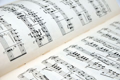 Sheet music. Old sheet music with notes royalty free stock photos