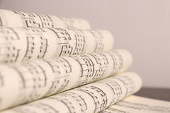 Sheet music. Opened sheet music forming pages Stock Images
