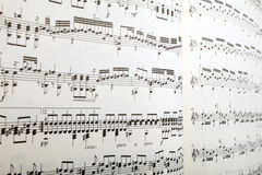 Sheet music in perspective Stock Image