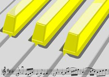 Sheet music and piano keys Royalty Free Stock Images