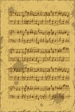 Sheet of music stave notes Stock Photos