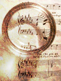 Sheet music on texture Royalty Free Stock Image