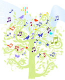 Sheet music tree Royalty Free Stock Photos