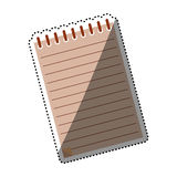 Sheet note paper. Icon  illustration graphic design Royalty Free Stock Photos