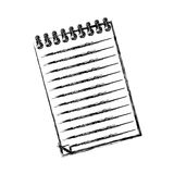 Sheet note paper. Icon  illustration graphic design Stock Images