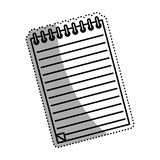 Sheet note paper. Icon  illustration graphic design Royalty Free Stock Images