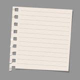 Sheet of note paper. Vector EPS10 Stock Photography