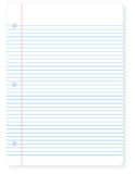 Sheet of notebook paper Royalty Free Stock Image