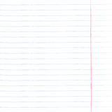 Sheet of notebook paper with lines Stock Image