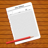 Sheet of notepad Royalty Free Stock Images