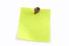 A sheet for notes Royalty Free Stock Images
