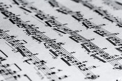 Sheet with notes. In the treble clef Royalty Free Stock Photo
