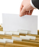 Sheet in office folders Royalty Free Stock Photography