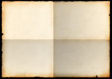 Sheet of an old paper with bends Stock Photo